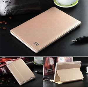 "xiaomi mi Pad Tablet 7.9 inch Case Cover, gold [Wake/Sleep Function] PU Leather Stand Flip Carry Case Cover For Xiaomi Mi pad 7.9"" Inch Smart Case"