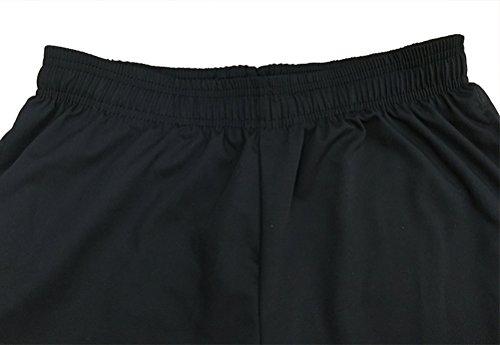 Nanxson Unisex Herren Damen Arbeitshose Kochhose Hotel Hose mit elastischer Taille CFM2008- (Schwarz, Taille: 67-90 cm) - 4