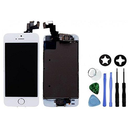Ecran LCD Retina + Vitre Tactile Tout Assemblé Complet sur châssis pour Iphone 5s Blanc + OUTILS