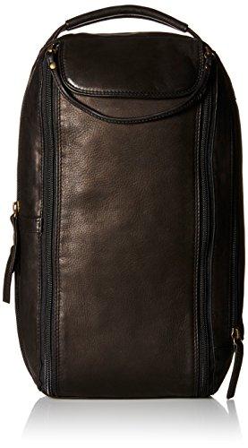 derek-alexander-twin-top-zip-shoe-bag-black-one-size