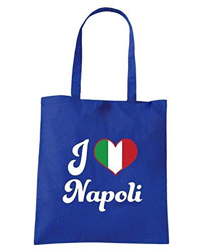 T-Shirtshock - Borsa Shopping TLOVE0141 italy i heart napoli tshirt Blu Royal