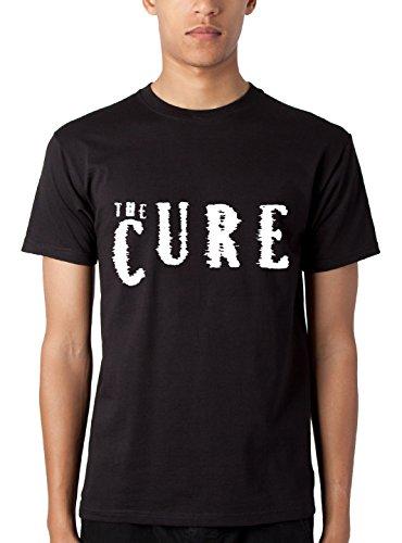 T-shirt Uomo The Cure - Maglietta indie band 100% cotone LaMAGLIERIA,L , Nero