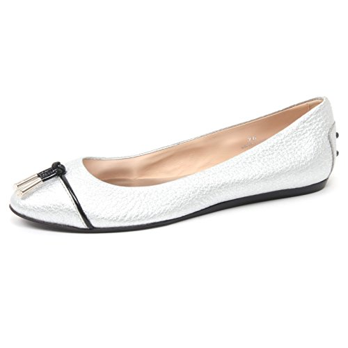 b4457-ballerina-donna-tods-scarpa-laccetto-argento-shoe-woman-36