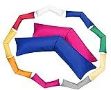 MOON-Luxury 2er Pack Linon Kissenbezug Kissenhülle für Seitenschläferkissen 100% Baumwolle (Weiß, 40x200 cm)