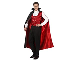 Atosa 96664 Disfraz vampiro rojo adulto XS-S, talla hombre