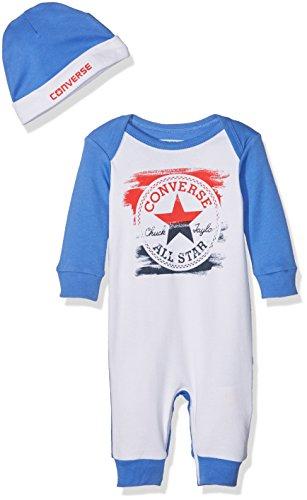 Converse Baby-Jungen Bekleidungsset Classic Chuck Patch Coverall, Mehrfarbig (Oxygen Blue), 50 (Herstellergröße: 0-3M)