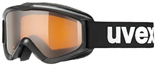 Uvex S5538192312_Black Sl/Lg_One size - Maschera da sci Bambini, Taglia unica, colore: Nero Black Sl/Lg