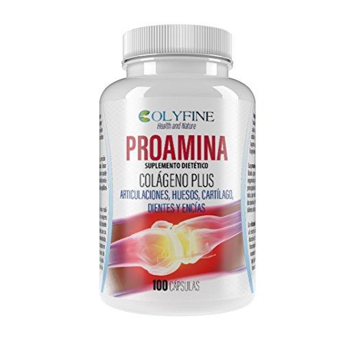 Proamina Colágeno Plus con Acido Hialurónico, Vitamina C y Condroitina+Glucosamina, 100 cápsulas de 630mg