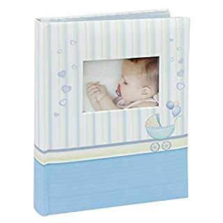 Photo album Baby boy Blue, customizable, note space, 10x15 cm, 100 pictures