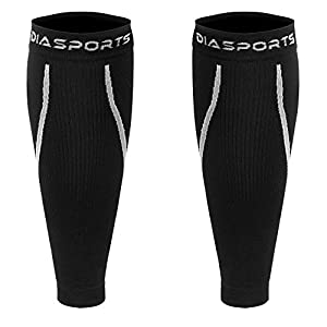 Diasports® Waden-Kompressionsstrümpfe – Deine Wadenbandagen für Marathon Triathlon Trailrunning – 100% Compression Socks für optimale Waden Kompression beim Laufen – (Calf Sleeves für Frauen/Männer)