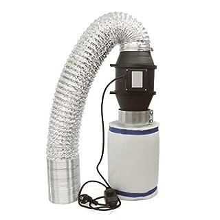 Abluft-Filter Grow Spezi Klimaset Ø100mm bis 310m³/h, Inline Rohrventilator 322 m3/h