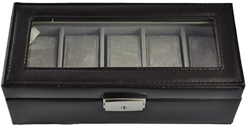 royce-leather-5-ranura-caja-de-reloj-928-6-talla-unica-negro