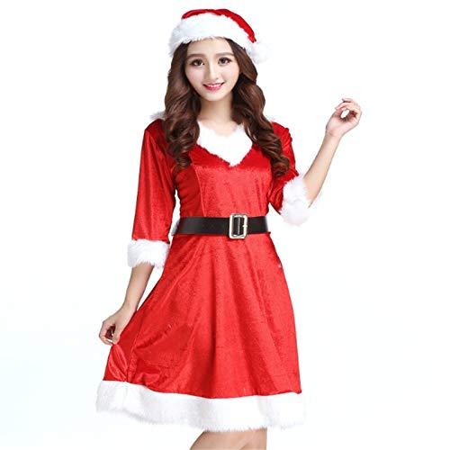 Yunfeng weihnachtsmann kostüm Damen Weihnachten Kleid Zeigen Heiligabend -