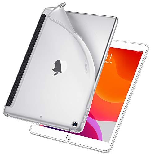 ESR Hülle Kompatibel mit iPad 10,2 2019 Hülle für iPad 7. Generation - TPU Backcover Rückseiten Case Weiche Silikonhülle [passt auf Smart Keyboard & Smart Cover]- Rückseite Schutzhülle -Durchscheinend -