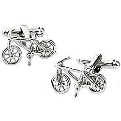 Hosaire Gemelos de bicicleta de modelado de las gemelos gemelos de los hombres gemelos de acero inoxidable de la manera del regalo del negocio