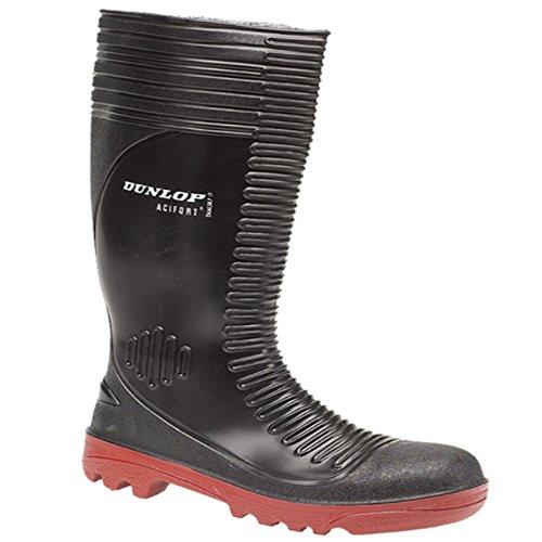 Dunlop, Stivali di gomma unisex adulto Nero (nero)