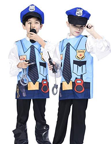m für Kinder, Unisex Printed Vest Uniform Suit Pretend Play Spielzeug (5 Stück) 4-6 Jahre ()