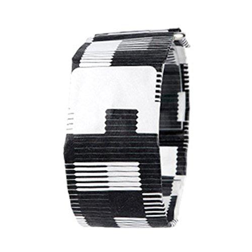 Funnyrunstore Personalisierte Papier Uhr Leben Wasserdicht Papierband Magnetverschluss Schnalle Ultra Light LED Digitaluhr für Männer Frauen (stil: # 14)