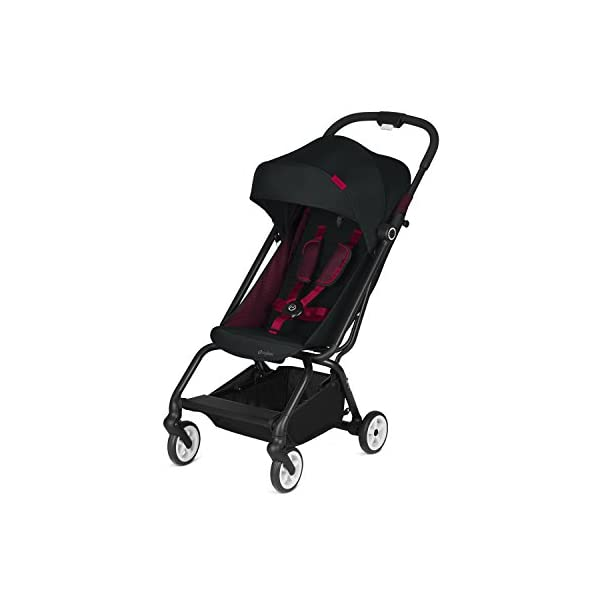CYBEX Gold Eezy S Scuderia Ferrari Compact Pushchair, One-Hand Folding Mechanism, Lightweight, From about 6 months to 17 kg (about 4 years), Victory Black  Sturdy, High-quality Compact Pushchair for newborns up to approx. 17 kg (approx. 4 years) with one-hand folding mechanism and infinitely adjustable backrest - Including raincover for optimum use in all weather conditions Optimum comfort for parent and child: Light and easy to manoeuvre around the city thanks to a slim wheelbase with a width of just 45 cm, Comfortable sitting position thanks to infinitely adjustable backrest Simple one-hand folding mechanism for travel-friendly size - LxWxH: 25 x 45 x 53 cm, 2-in-1 travel system compatibility with separately available CYBEX and gb baby car seats 1