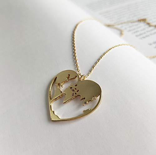 925 Silber Herz Form Probe Gold Farbe kreative minimalistische Karte Pentt
