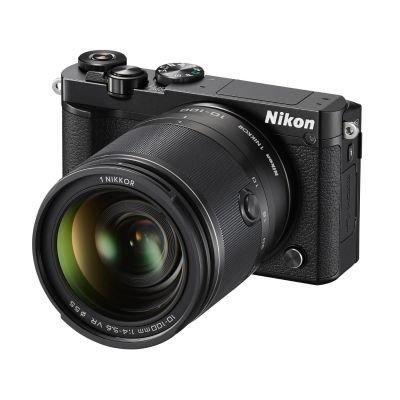 Nikon 1 J5 Systemkamera (20 Megapixel, 7,5 cm (3 Zoll) Display, 4K-Videoaufzeichnung, Funktionswählrad, Einstellrad, Funktionstaste, WiFi, NFC, USB, HDMI) Kit inkl. 10-100mm 1:4,0–5,6 VR Objektiv schwarz (Nikon 1 J5)