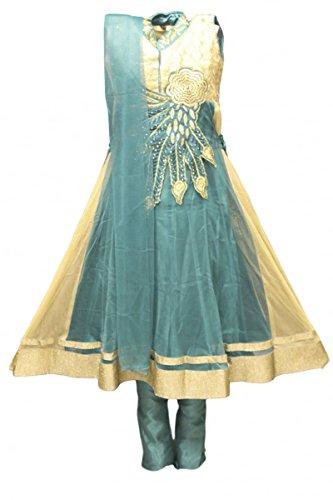 ridar Anzug Gold Mädchen Indian Bollywood Fancy Dress 28 (approx 6-7 years) (Fancy Dress Krishna Kostüm)