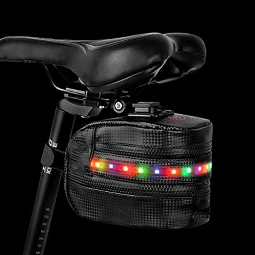 htfrgeds Bike Saddle Bag Tear Resistant Polyester Bike Seat Rear Bags Strap On Saddle Bag Bicycle Seat Pack Bag Cycling Rear Tail Bag Bicycle Bag Basismodelle for MTB Bike