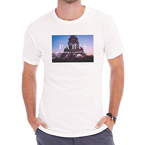 Paris Is Always A Good Idea Herren T-Shirt Weiß