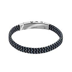 Idea Regalo - Stroili - Bracciale in acciaio e corda per Uomo