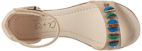 Another Pair of Shoes Scarlet K1 - Sandali a Punta Aperta Donna Beige  (Sand 698)
