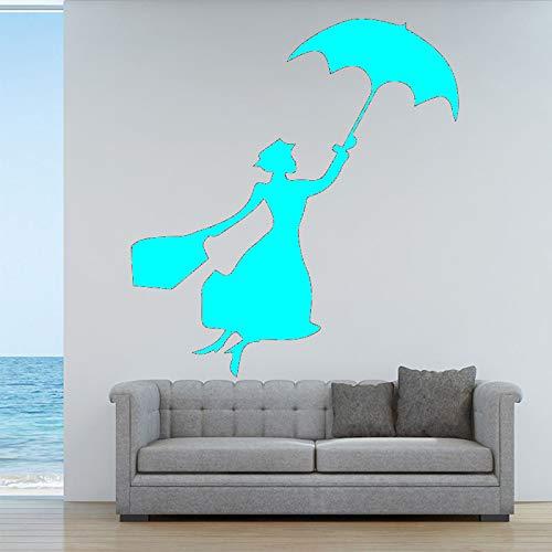 Ajcwhml Applique da Parete in Vinile Soggiorno Artista Decorazione Vivente Ragazza Camera Femminile Applique murale 43 cm x 49 cm