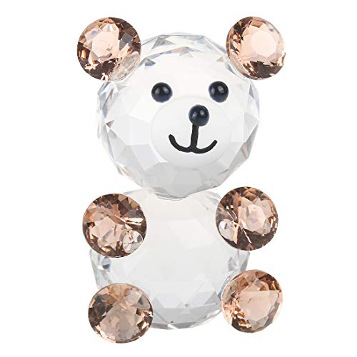 H and D choice of Crystal Bear Figure paperweight or Gift, Good Luck, Pink Bear