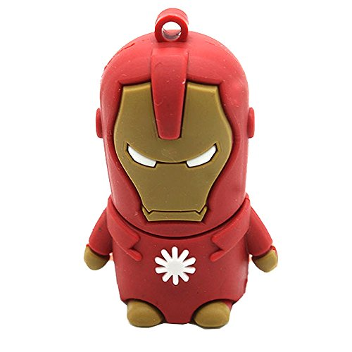 Memoria Flash USB Pendrive de 8GB forma superheroes tipo llavero (Ironman)