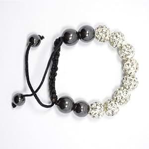 Child's clear crystal shamballa constellation bracelet