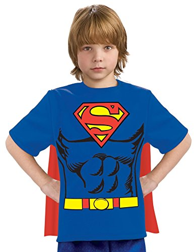 Superman T SHIRT Kinder Kostüm - Superman Kinder T-Shirt,