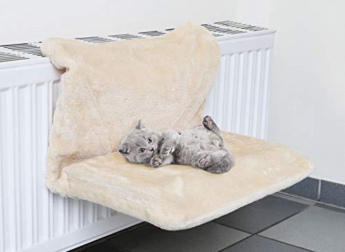 bonsport Katzen Hängematte für die Heizung - Plüsch Katzenliege, 46 x 31 cm