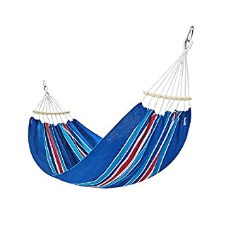 JWYKY Puedes desmontar la hamaca lateral,armar UNA lona al aire Libre,un columpio Doble,Elegante,Azul 2,5 metros.
