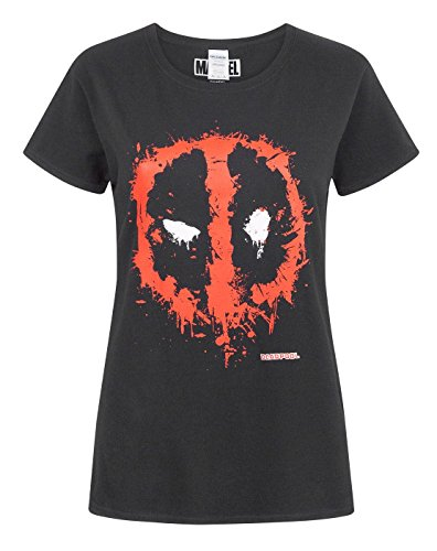 Deadpool Marvel Splat Mask Logo Women's T-Shirt (XXL)