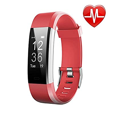 LETSCOM Fitness Tracker HR, Activity Tracker Watch Heart Rate Monitor, Waterproof Smart Fitness Band Step Counter, Calorie Counter, Pedometer Watch Kids Women Men from LETSCOM