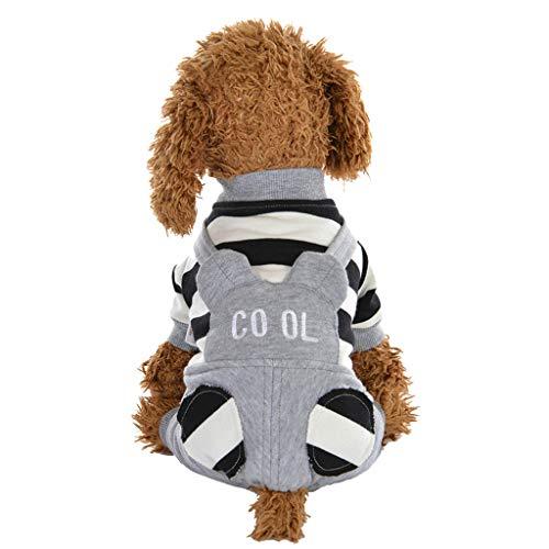 BBring Gestreift Patchwork Mantel für Katzen Hunde, Hoher Kragen Langarm Pullis dicken Winter Warm Haustier Kleidung für Hündchen Kätzchen (XL, - Grau Gestreiftes Kätzchen Kostüm