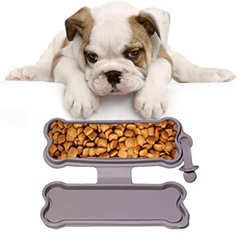 Morezi silicom pieghevole da viaggio ciotola del cane portatile pet food acqua ciotola per animali cani e gatti