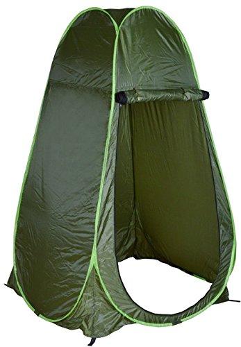 ZJchao Pop Up Zelt, Tragbarer sofort Outdoor Multi Camping Strand WC Dusche Zelt Sichtschutz Umkleideraum Einheitsgröße Armee-grün -