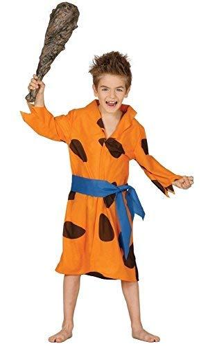 Fancy Me Jungen 1960s Jahre Daddy Höhlenmensch Cartoon Halloween Kostüm Kleid Outfit 3-12 - Orange, Orange, 7-9 Years