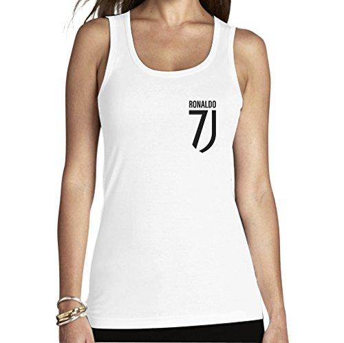 Maglietta per Fans Ronaldo – T-Shirt Juventini Cristiano Canottiera da Donna