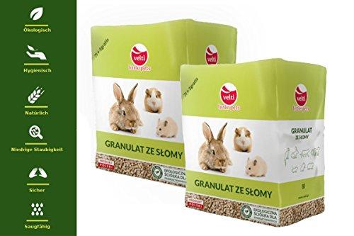 Velti 16L Kleintierstreu - Für die Pflege Ihrer Haustiere - Innovativ auf Dem Marktplatz Heimtierstreu Super absorbierend Einstreu Naturstreu - einhundert Prozent natürlich