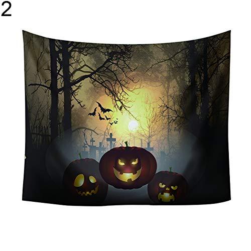 FEIDAjdzf Halloween-Wandteppich, Kürbisschloss, zum Aufhängen, für Strand, ALS Wohndeko 2#
