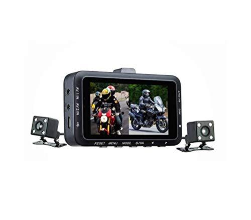 AZWE Enregistreur de conduite de moto, caméra de nuit à vision double HD 720P étanche