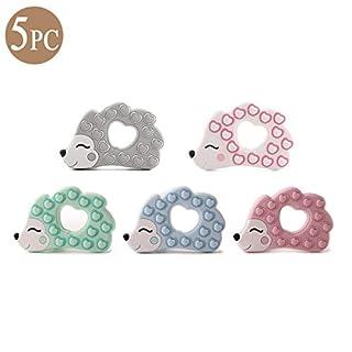 Mommy love baby Säugling Silikon Beißring Anhänger Zubehör 5pc Lgel Tier Zahnen Spielzeug für dein Kleinkind