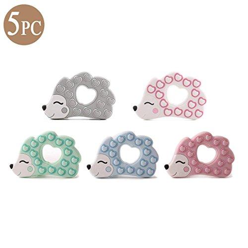 Mommy love baby Bébé Silicone Dentition Accessoires de Suspension 5pc Hérisson Animal Jouet de Dentition pour Votre Tout Petit