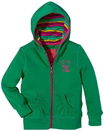 TOM TAILOR Kids Pull Manches longues Fille - Vert - Grün (7446  shiny forest green) - FR : 8 ans (Taille fabricant : 128/134)